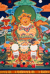 Bhutan Buddhist wall painting thanka