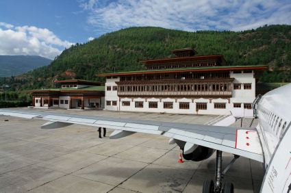 Bhutan international airport of Paro