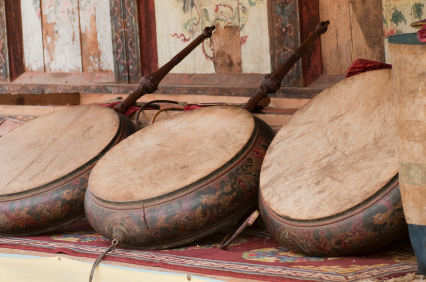 Traditional Bhutanese hand drums